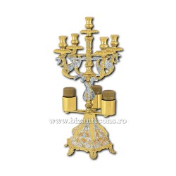 Sfesnic Sfantul Maslu - aurit si argintat X45-365