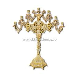 Sfesnic 7 brate - lumanari - aurit si argintat X47-380