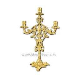 Sfesnic 3 brate - lumanari - aurit X48-393 / 38-224