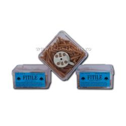 FITILE CEARA naturala cu pluta cutie patrata - 12/punga D 69-30