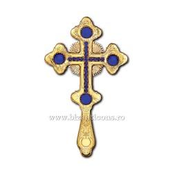 CRUCE BIN aurita pietre albastre - X69-633