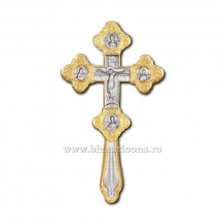 Cruce Binecuvantare - aurita si argintata X69-634