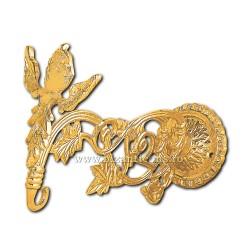 Suport candela - bronz aurit - 20 cm