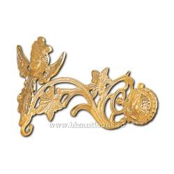 Suport Candela, Bronz Aurit - 30 cm