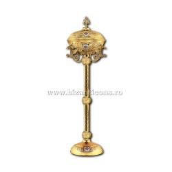 Vas anafora cu picior - aurit - dragoni - medalion email X 103-849 / 90-601