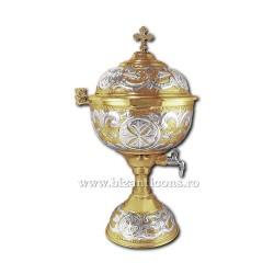 VAS aghiasma 6 litri aurit si argintat - X104-861