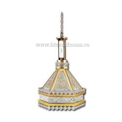 Fanar - lampa strana - aurit si argintat - gravat X76-695