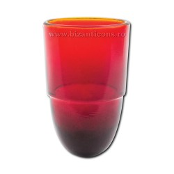 Pahar candela rosu 7x11