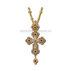 Cruce Stavrofor Au-Ag - pietre rosii