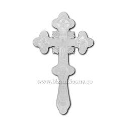 100-94Ag Cruce Bin. 28cm - argintie - Bizantina 24/bax