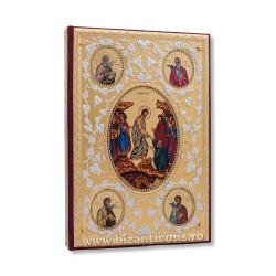 Evanghelie aurita si argintata - pietre albe - icoane AS102-167