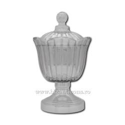 Vas anafora sticla - baza argintie