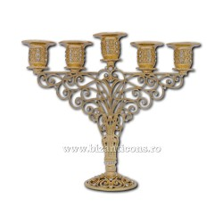 Candlestick 5 arms, and gold - stones