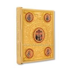 Evanghelie aurita - medalion icoane - pietre rosii X24-210 / 20-100R