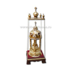 Monstrance gold and silver plated - zirconia stones AT 101-91