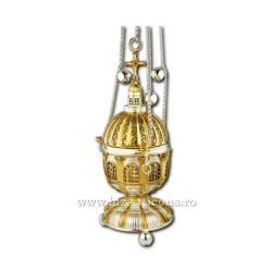 Кадила traforata - установлено золотое изваяние, и argintata AT 107-80
