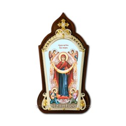 The icon of the enamel-painted - filigree-gold and silver - Acoperamnatul AT 160-1