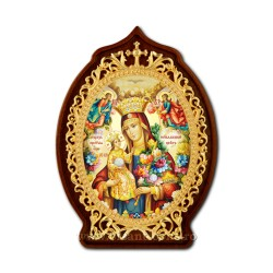The icon of the enamel hand - painted filigree gold plated and silver-plated - EUROPEAN Queen AT 160-2