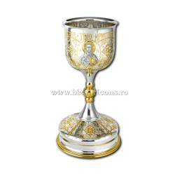 The chalice plated with gold, and arginatat - cup-925 sterling silver - engraved AT the 103-85