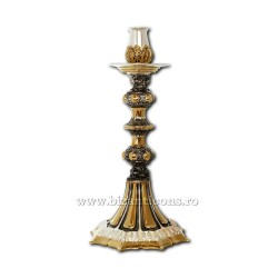 Will a meal - plated with gold-and silver - acanthus - large AT 121-79