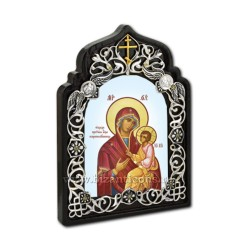 The icon of the enamel-painted - filigree-silver-plated - EUROPEAN AT 160-3