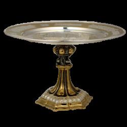 Disc cu baza - aurit si argintat - acant AT 323-12