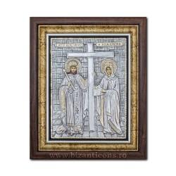 ICOANA rama Ag925 Sf Constantin si Elena 36x44 K700-011