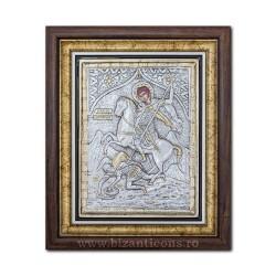 Το εικονίδιο με το ασημωμένο - Αγίου Δημητρίου 36x44cm K700-014