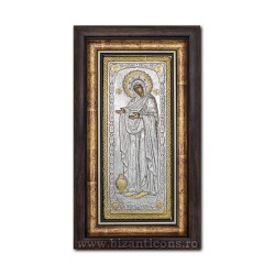 The icon with silvered our lady Gerontissa - the growth of the house of 36x44cm K700-018