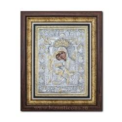 Το εικονίδιο με το ασημωμένο παναγίας Axionita 36x44cm K700-022