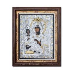 Icoana argintata - Maica Domnului cu 3 Maini - Trihirussa 36x44cm K700-029