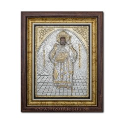 Икона argintata - Святой Нектарий в Eghina 36x44cm K700-114