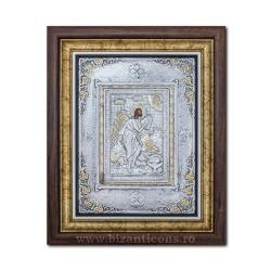 Το εικονίδιο με το ασημωμένο - Αγίου Ιωάννη του Βαπτιστή 36x44cm K700-121