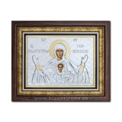 Икона argintata - девы марии Королевы Небес - Platitera 36x44cm K700-409