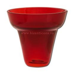 39-113R pahar rubin No3 - ROSU - 10,5x10cm 6/set 24/bax