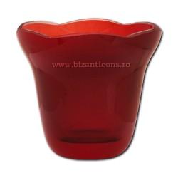 39-114R бокал рубиново-No2 - КРАСНЫЙ, 9,1x7,9 см 6/комплект 48/коробка