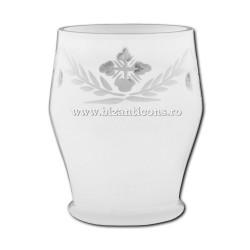 """39-140W стакан, стол, """"рубин"""" ГРАВИРОВАЛЬНЫЕ No2 - БЕЛАЯ - 7,5x10,5 см 6/комплект 48/коробка"""