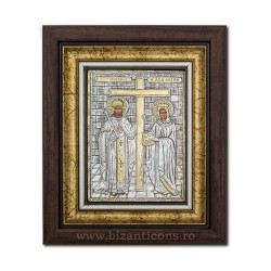 The ICON of the frame Ag925 st. St. Konstantin and Elena, 27x32 K701-011