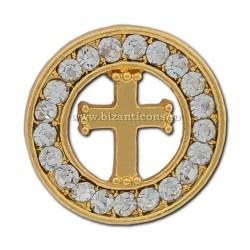 6-207 badge-the Cross + the rocks 12/set