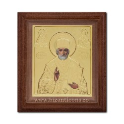 ЗНАЧОК из металла в раме, 15x17 Святого Николая SFR505-009