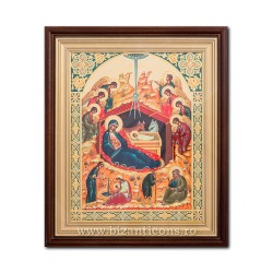 ICON litho, embossed, framed 32x37 the Birth of No. 44 SFR510-204
