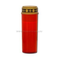 17-41R candela cu baterii ( nu include baterii) - rosie - 7x21cm 72/bax