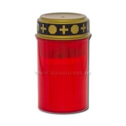 17-40R candela cu baterii ( nu include baterii) - rosie - 7x12cm 144/bax