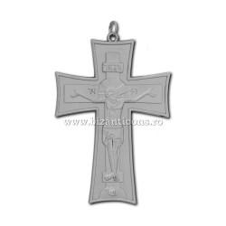 100-10Ag груди Крест, Серебро - 7,5x11 100/коробка