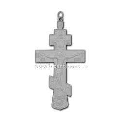 100-11Ag Cruce pectorala Rusia Argintie - 6,5x12 100/bax