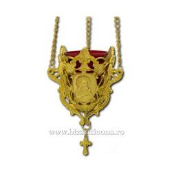 120-25 лампа, цепь из металла - золотой 48/коробка