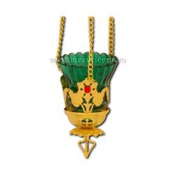 The 120-53Au lamp chain, flower, stone, 15/box