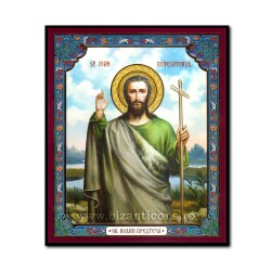 1852-724 Icoana ruseasca mdf 10x12 Sf Ioan Botezatorul
