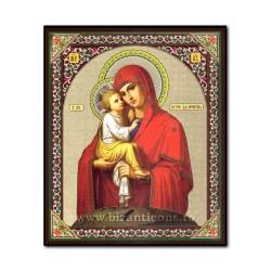 Icoana pe lemn - Maica Domnului din Poceaev 15x18 cm