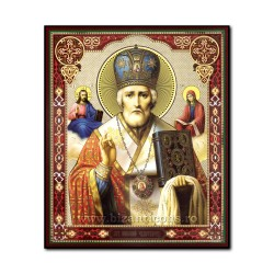 1861-009 Icoana ruseasca mdf 20x24 Sf Nicolae